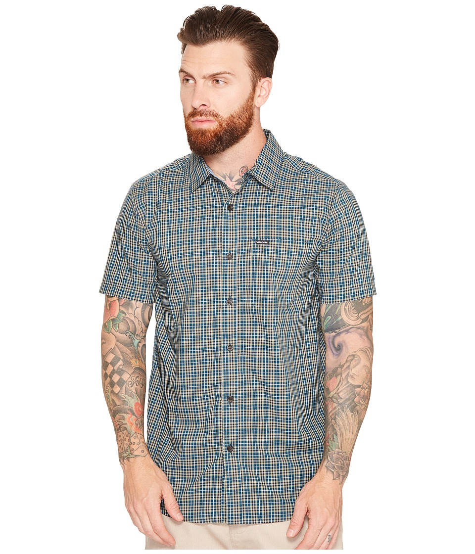 Volcom - Harper Short Sleeve Woven (Flight Blue) Men's Clothing