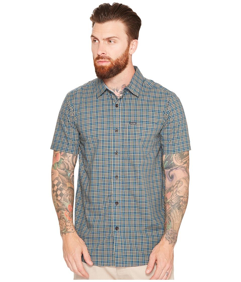 Volcom - Harper Short Sleeve Woven (Flight Blue) Men's Clothing