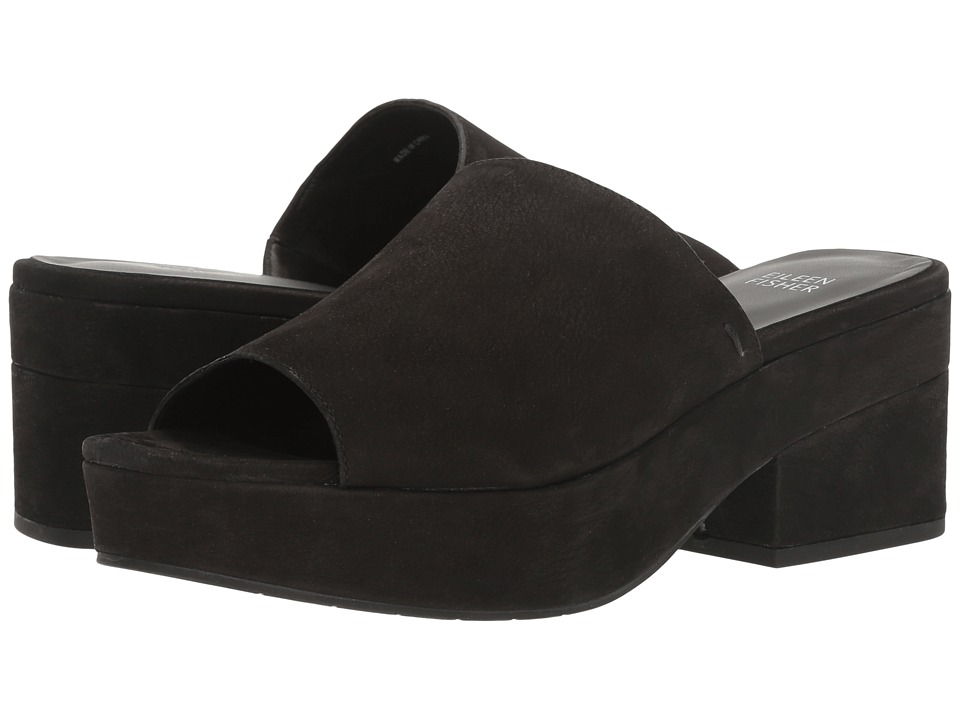 Eileen Fisher Dana (Black Tumbled Nubuck) Women