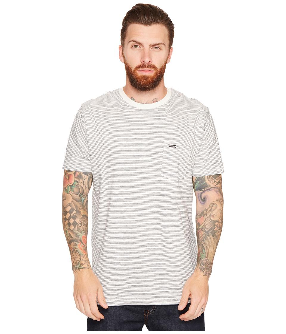 Volcom - Bonus Crew Short Sleeve (Cloud) Men's Clothing