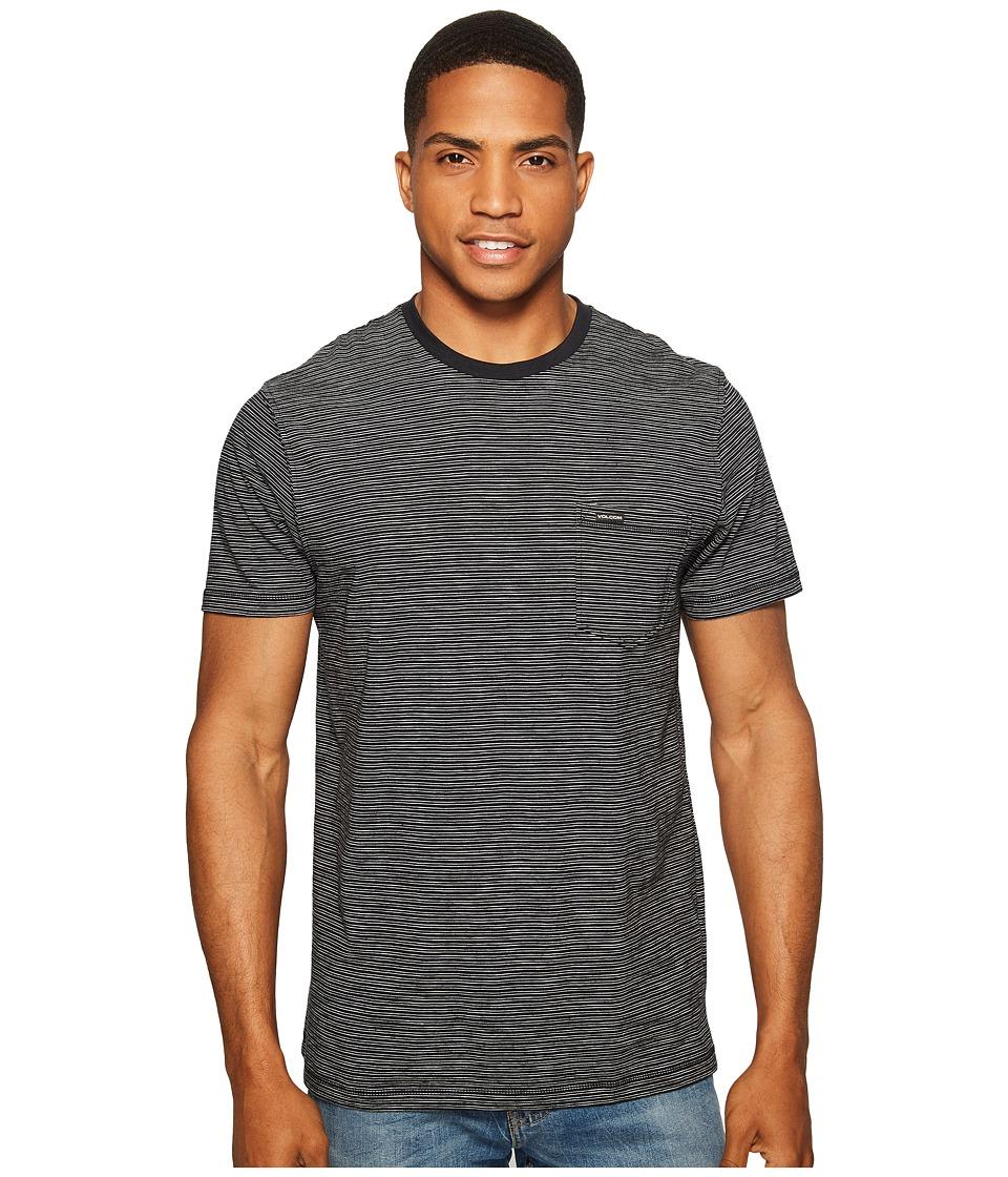 Volcom - Bonus Crew Short Sleeve (Black) Men's Clothing