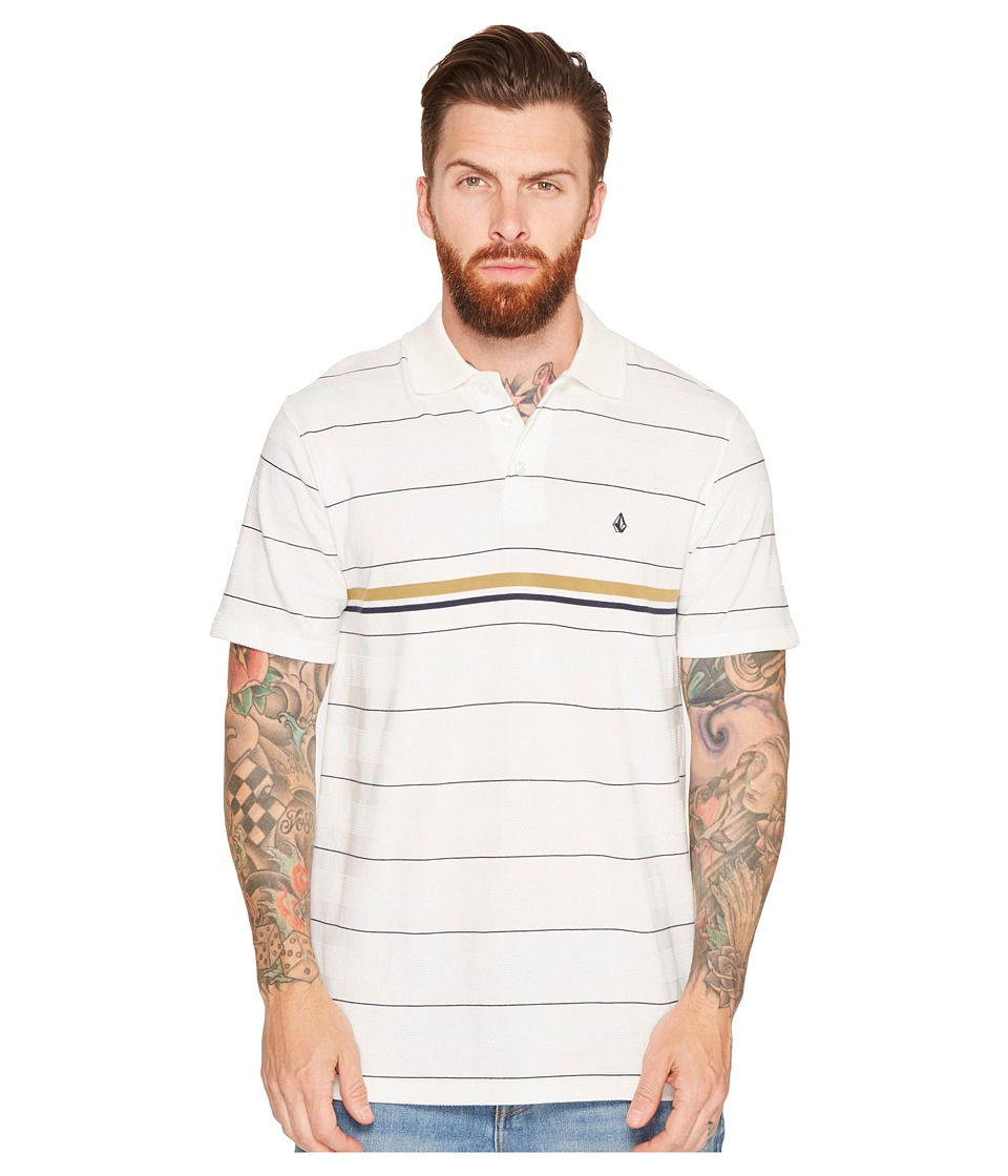 Volcom - Wowzer Stripe Polo (Cloud) Men's Clothing