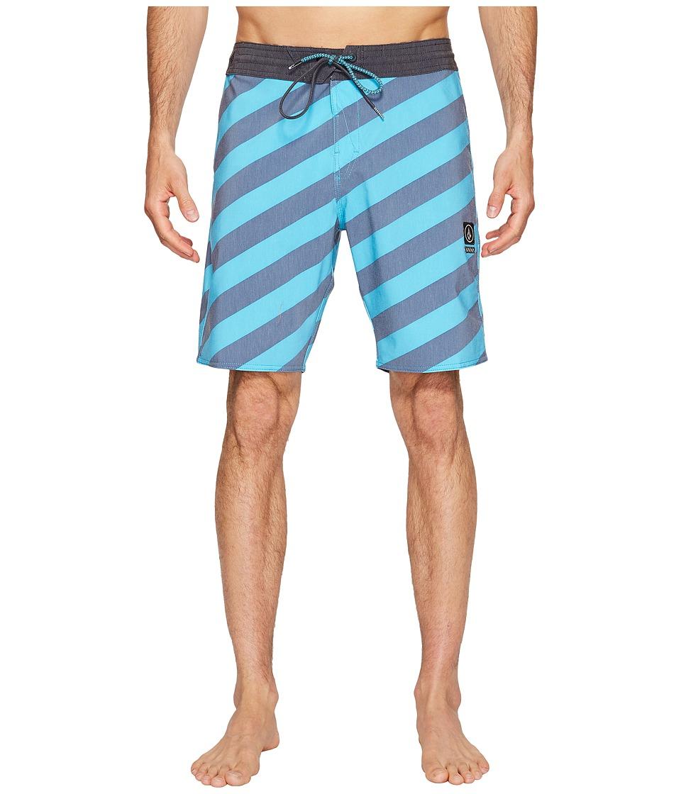 Volcom Stripey Slinger 19 Boardshorts (Aqua) Men