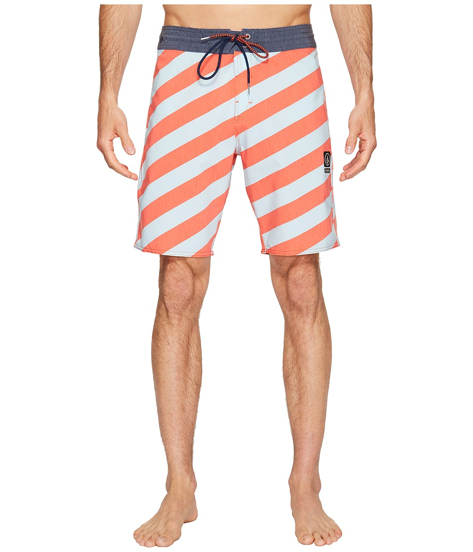 Volcom Stripey Slinger 19 Boardshorts (Bright Orange) Men
