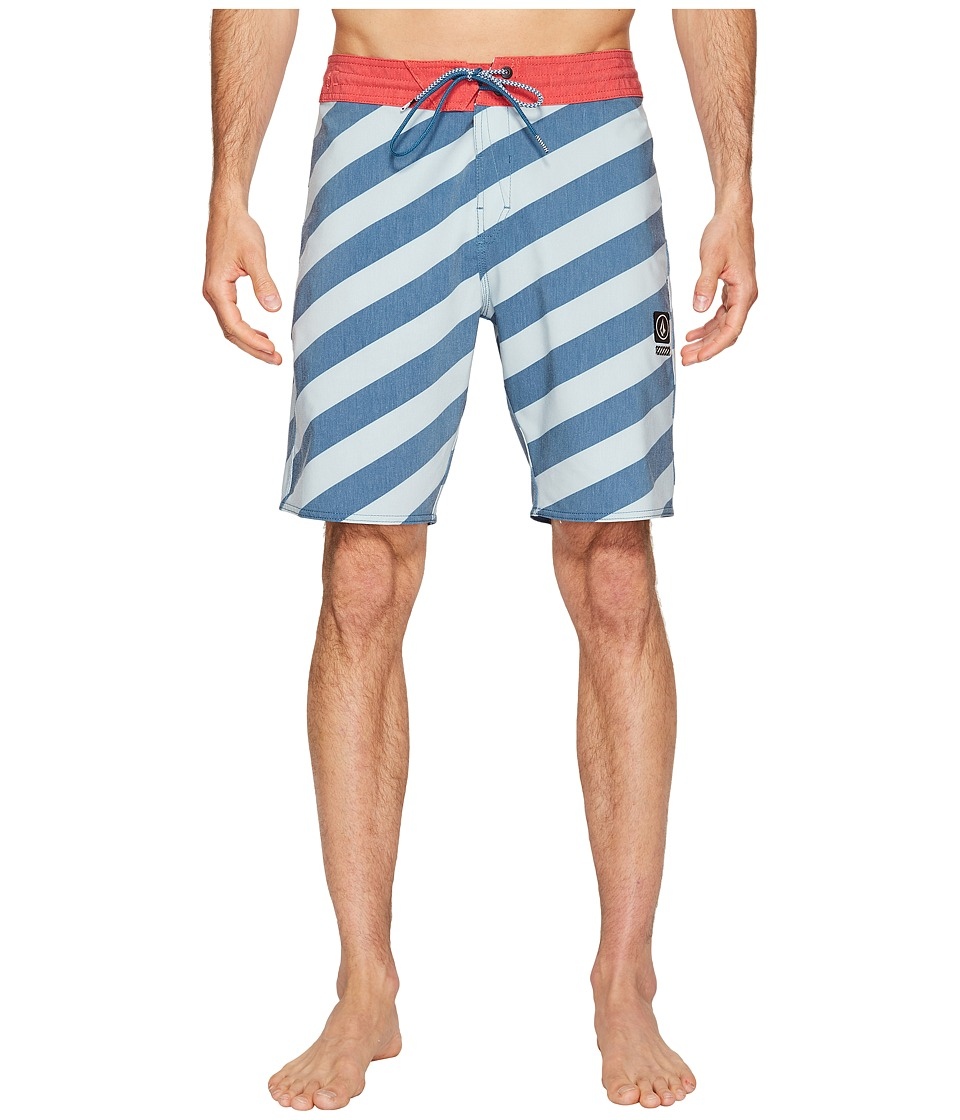 Volcom - Stripey Slinger 19 Boardshorts (Flight Blue) Men's Swimwear