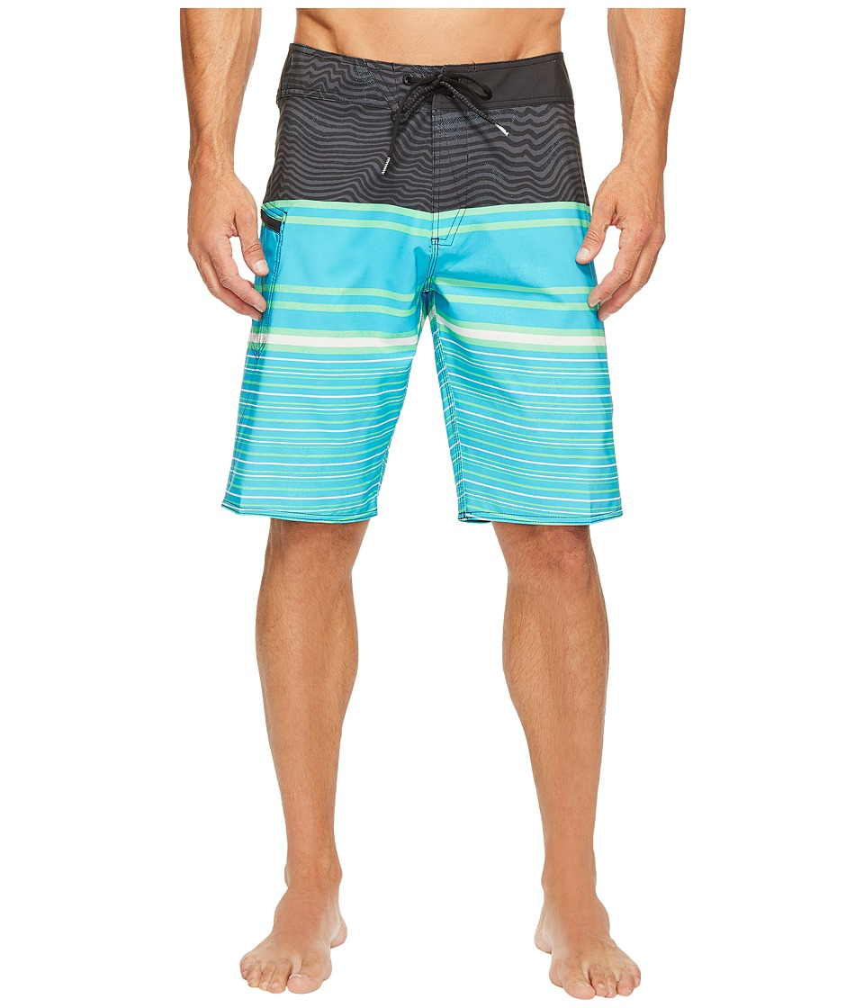 Volcom - Lido Liney Mod 21 Boardshorts (Aqua) Men's Swimwear