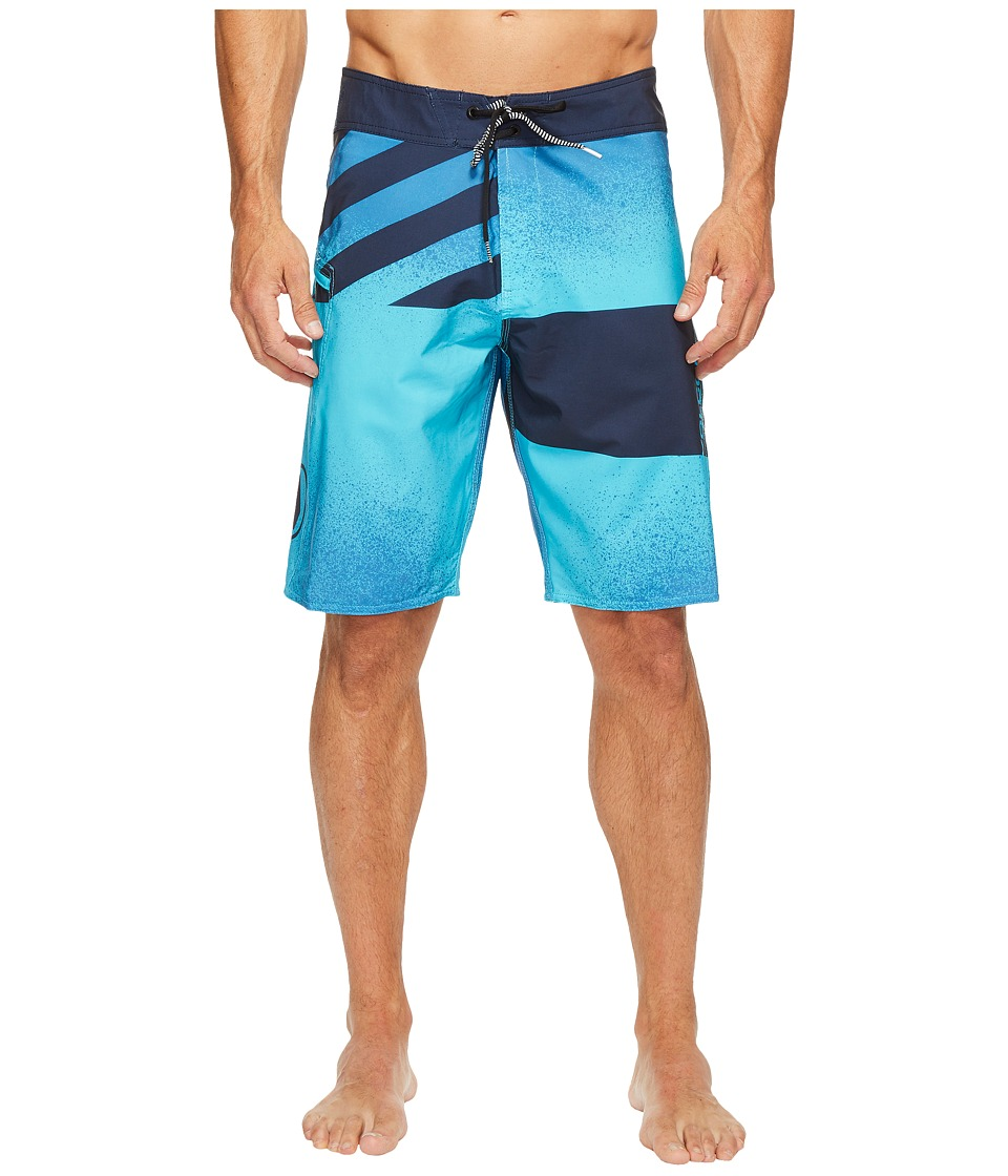 Volcom - Lido Block Mod 21 Boardshorts (Aqua) Men's Swimwear