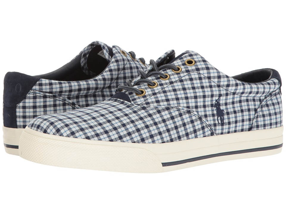 Polo Ralph Lauren - Vaughn (White/Newport Navy) Men's Lace up casual Shoes