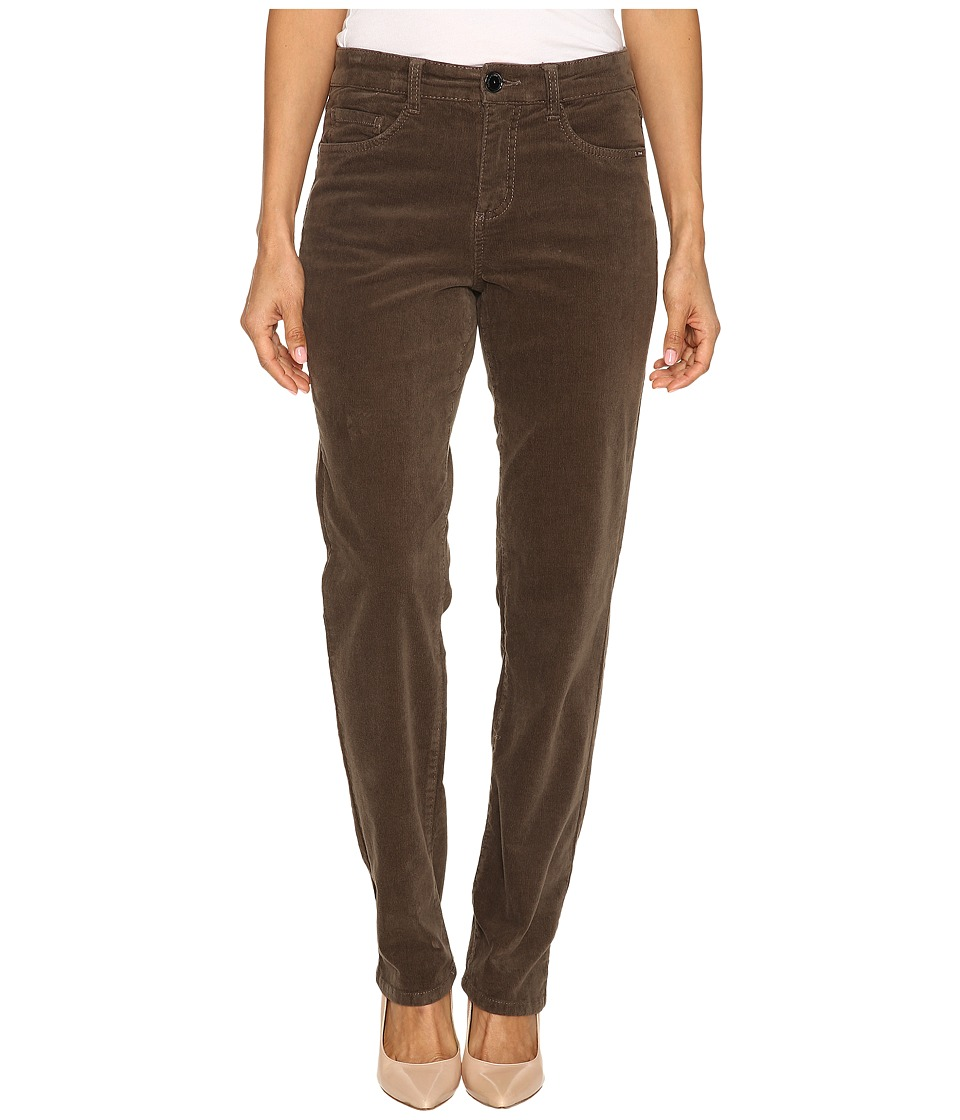 FDJ French Dressing Jeans - Petite Suzanne Straight Leg Plush Cord in Taupe (Taupe) Women's Jeans