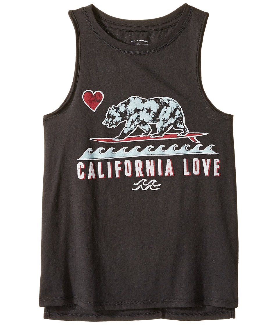 Billabong Kids - Cali Love and Stars Tank Top (Little Kids/Big Kids) (Off-Black) Girl's Sleeveless