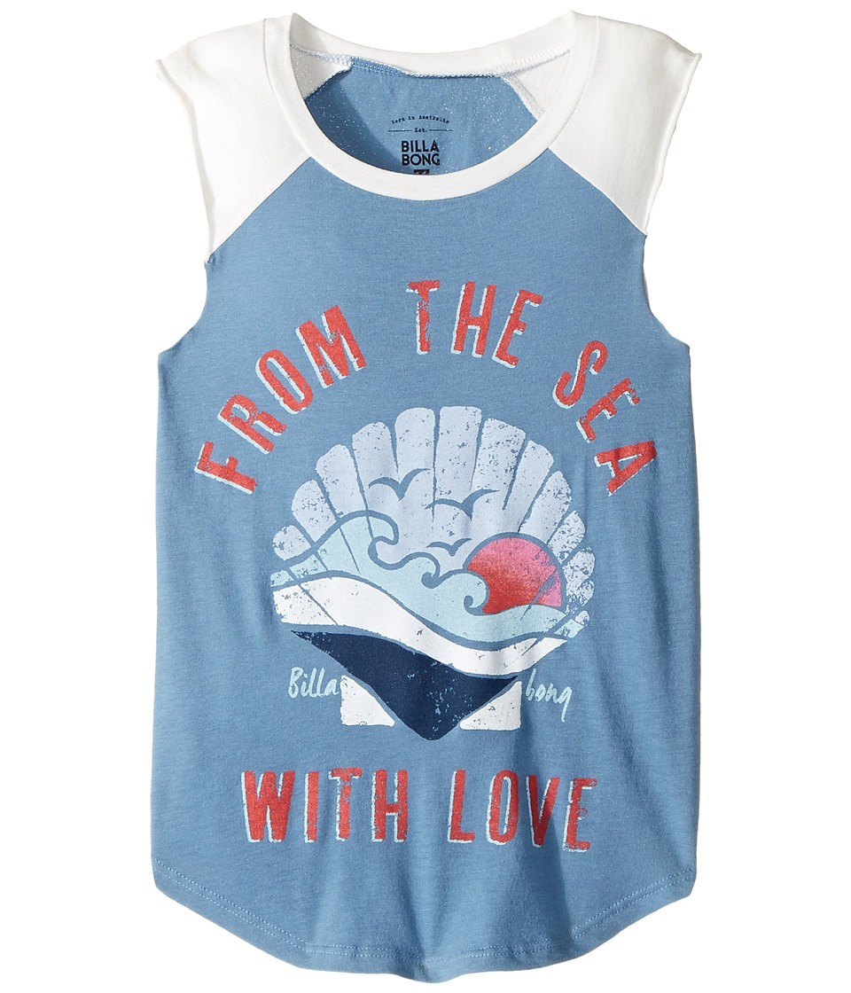Billabong Kids - From the Sea Muscle Tee (Little Kids/Big Kids) (Vintage Indigo) Girl's Sleeveless