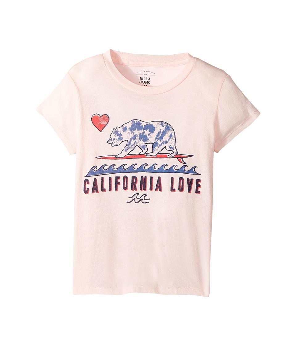 Billabong Kids - Cali Love and Stars Tee (Little Kids/Big Kids) (Shell Pink) Girl's T Shirt