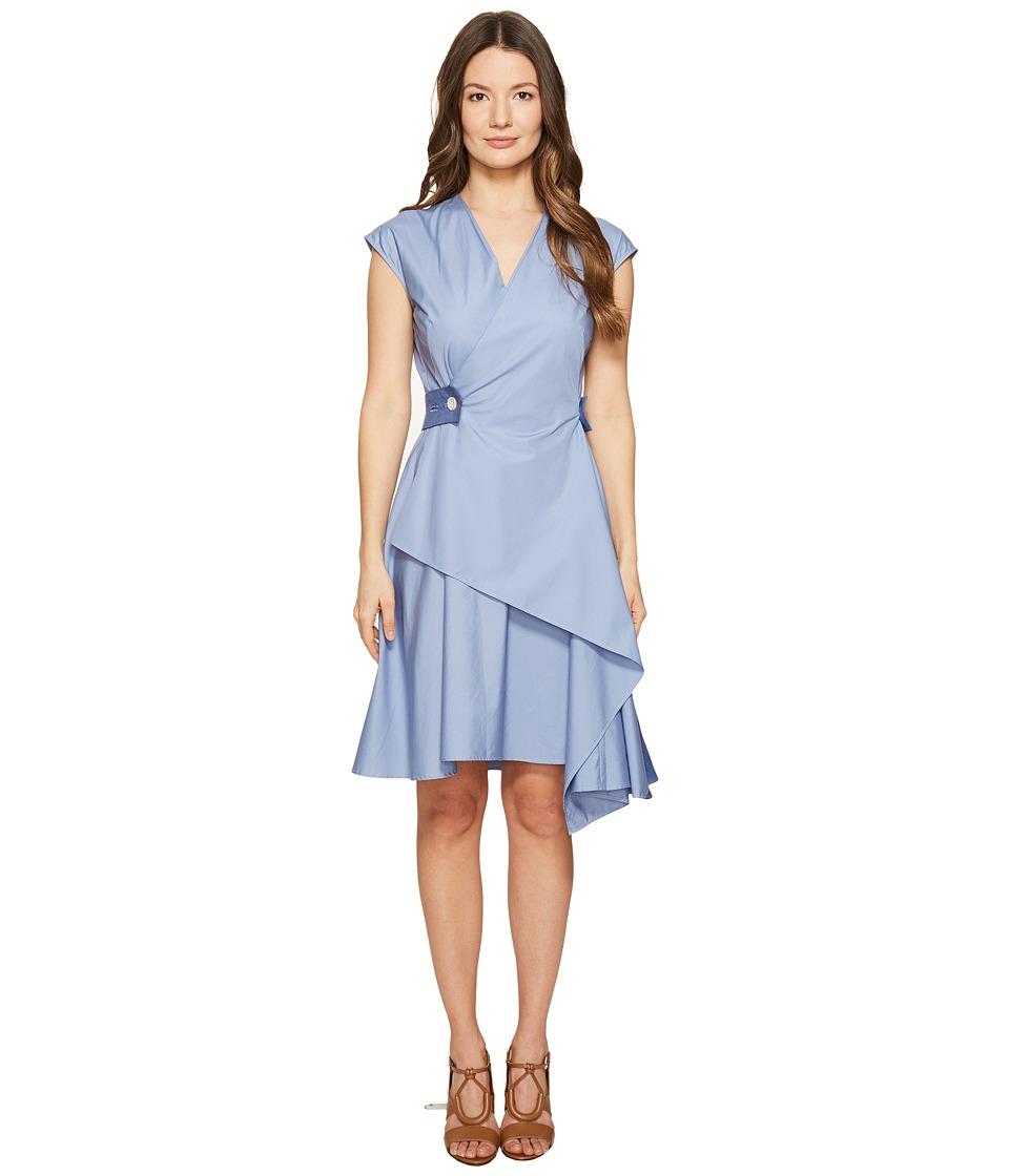 Sportmax - Recente Wrap Dress (Avio) Women's Dress