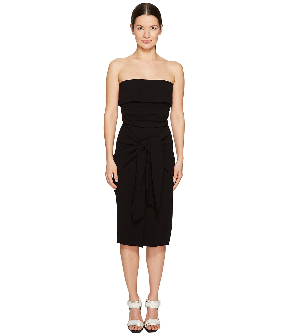 Sportmax - Pittore Tie Front Strapless Dress (Black) Women's Dress