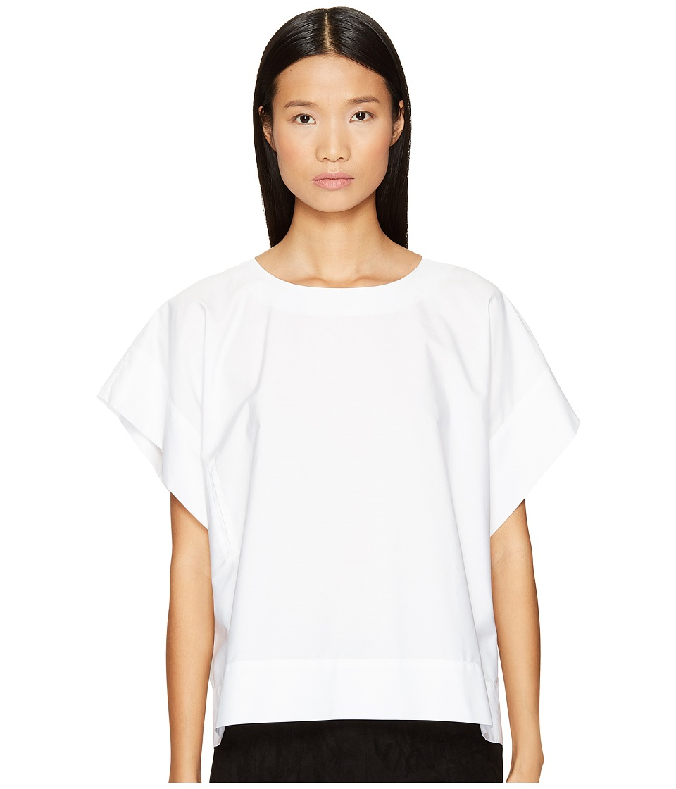 Sportmax - Dax Side Tie Shirt (Optical White) Women's Short Sleeve Pullover