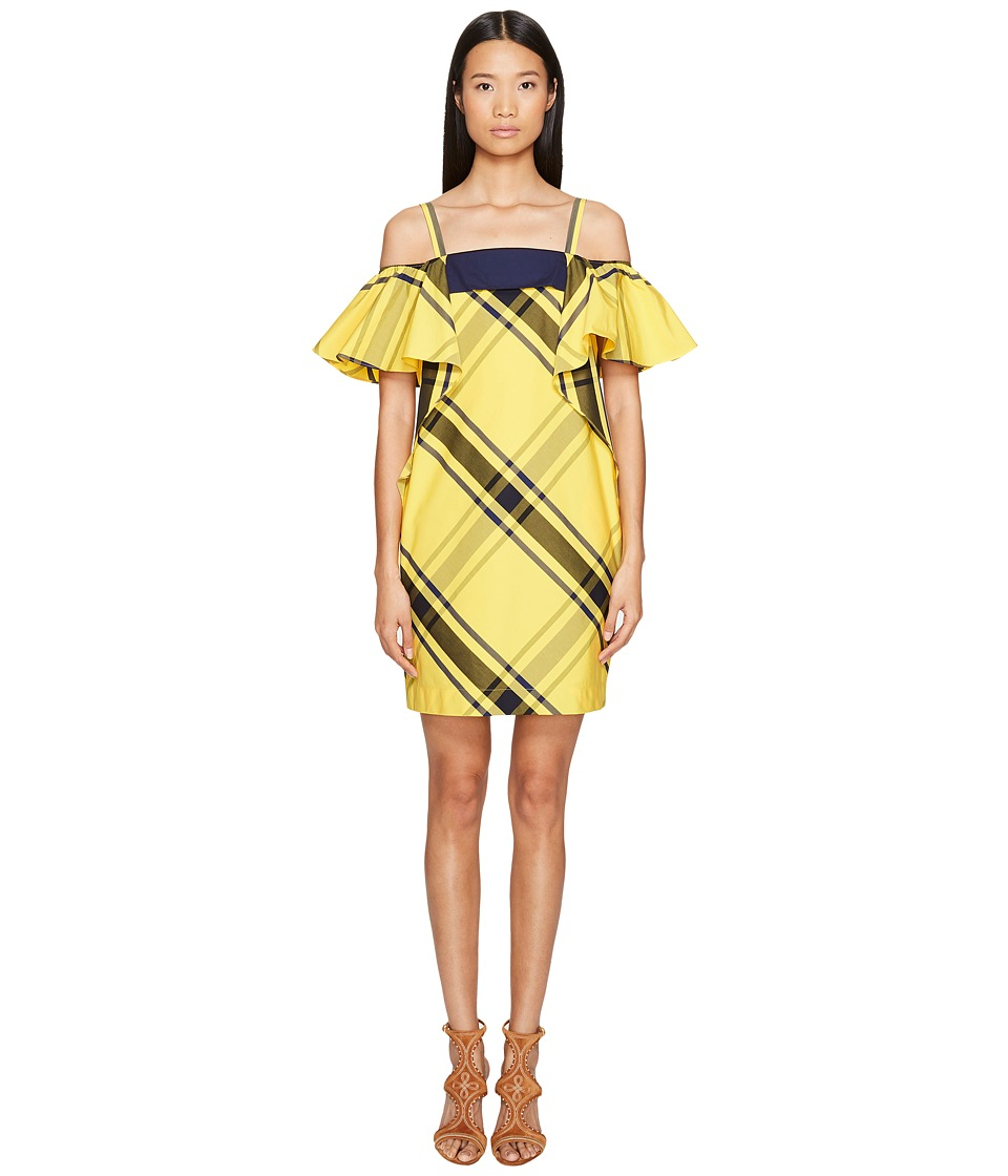 Sportmax - Navata Strapless Ruffle Dress (Bright Yellow) Women's Dress