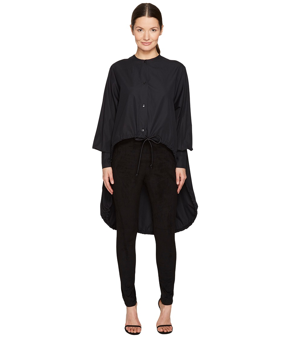 Sportmax - Ricetta Runway High-Low Button Up Top (Black) Women's Coat