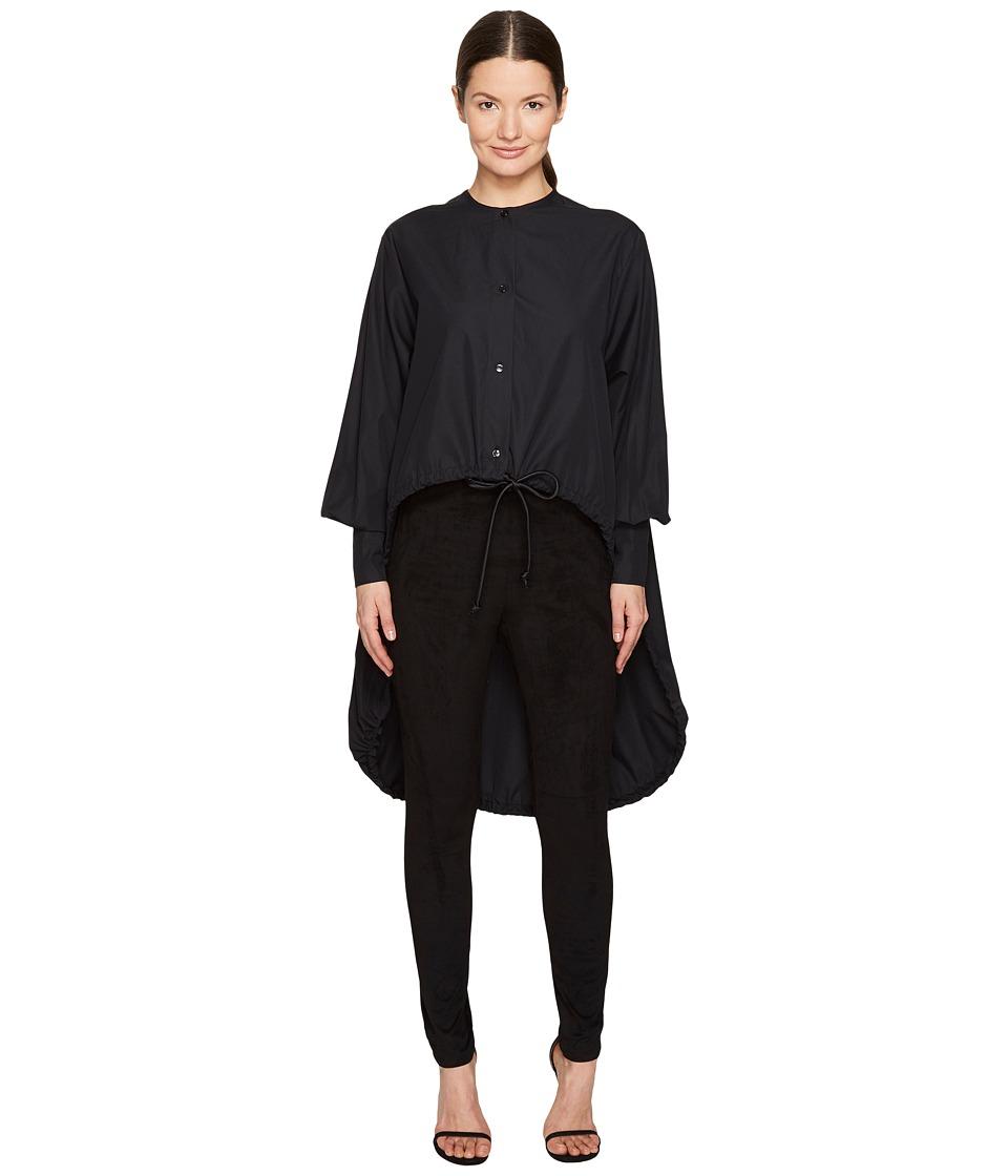 Sportmax - Ricetta Runway High-Low Button Up Top (Black) Women's Coat