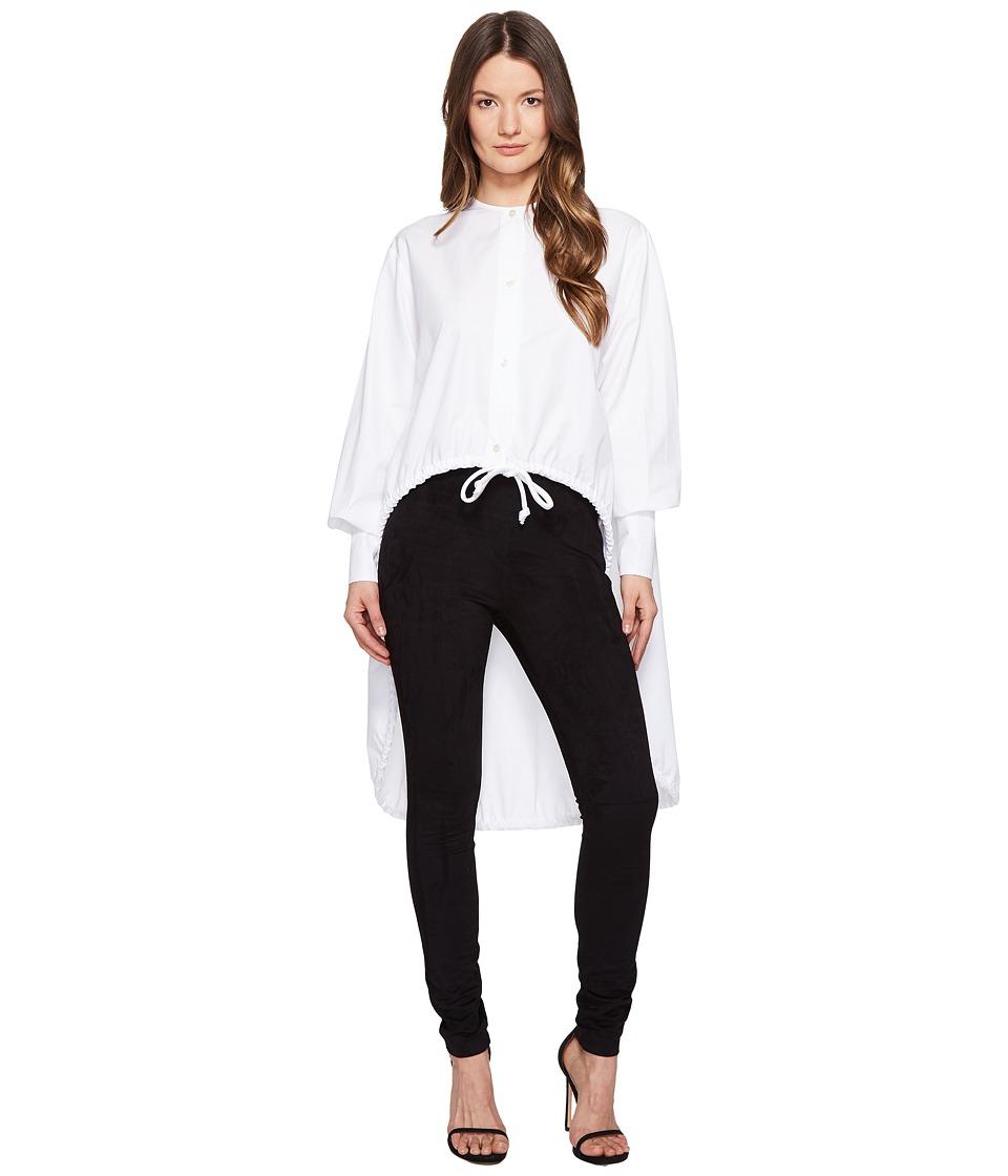 Sportmax - Ricetta Runway High-Low Button Up Top (White) Women's Coat