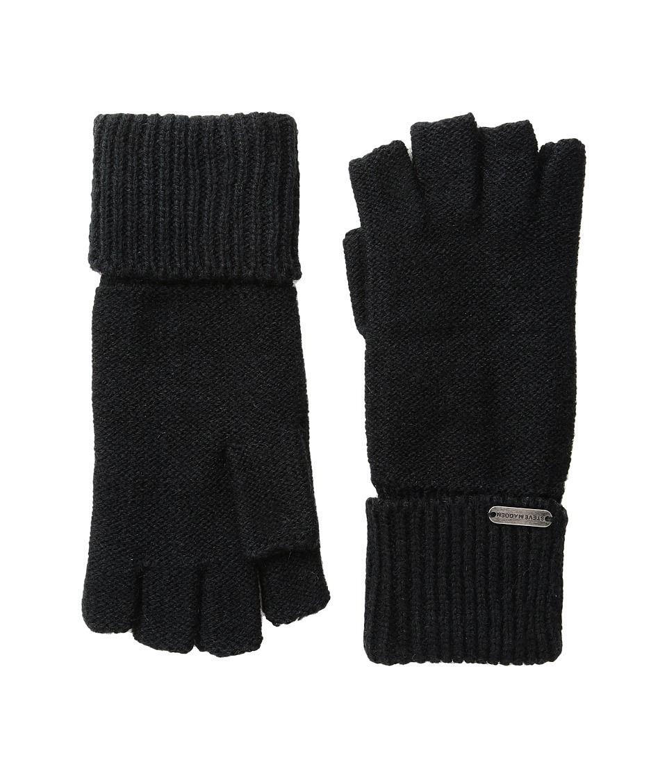 Steve Madden - Boyfriend Half Finger Gloves (Black) Dress Gloves