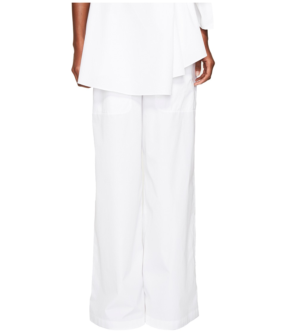 Sportmax Garbata Wide Leg Pants White Dress Pants