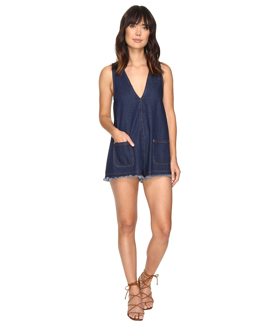 alice McCALL - S.O.S Playsuit (Denim) Women's Jumpsuit & Rompers One Piece