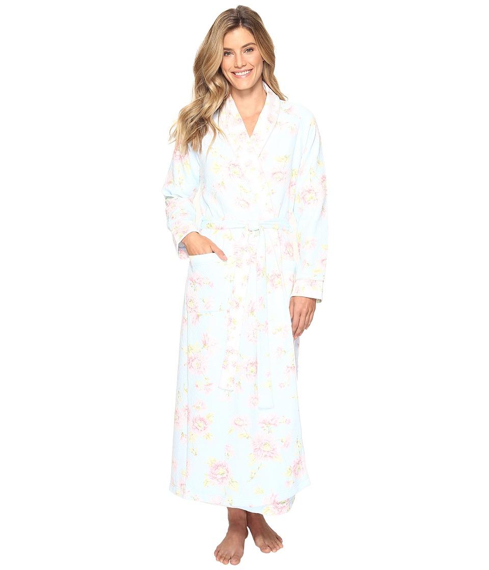 Carole Hochman - Floral Diamond Quilt Robe (Sunburst) Women's Robe