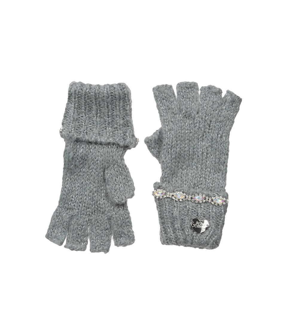 Betsey Johnson - On the Rocks Half Finger Gloves (Grey) Dress Gloves
