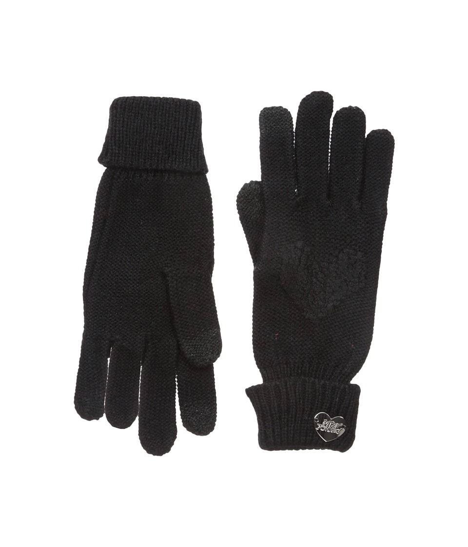 Betsey Johnson - Open Your Heart One Touch Gloves (Black) Dress Gloves