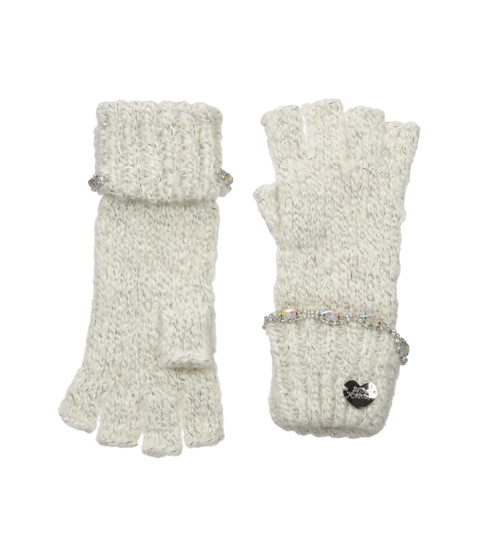 Betsey Johnson - On the Rocks Half Finger Gloves (Ivory) Dress Gloves