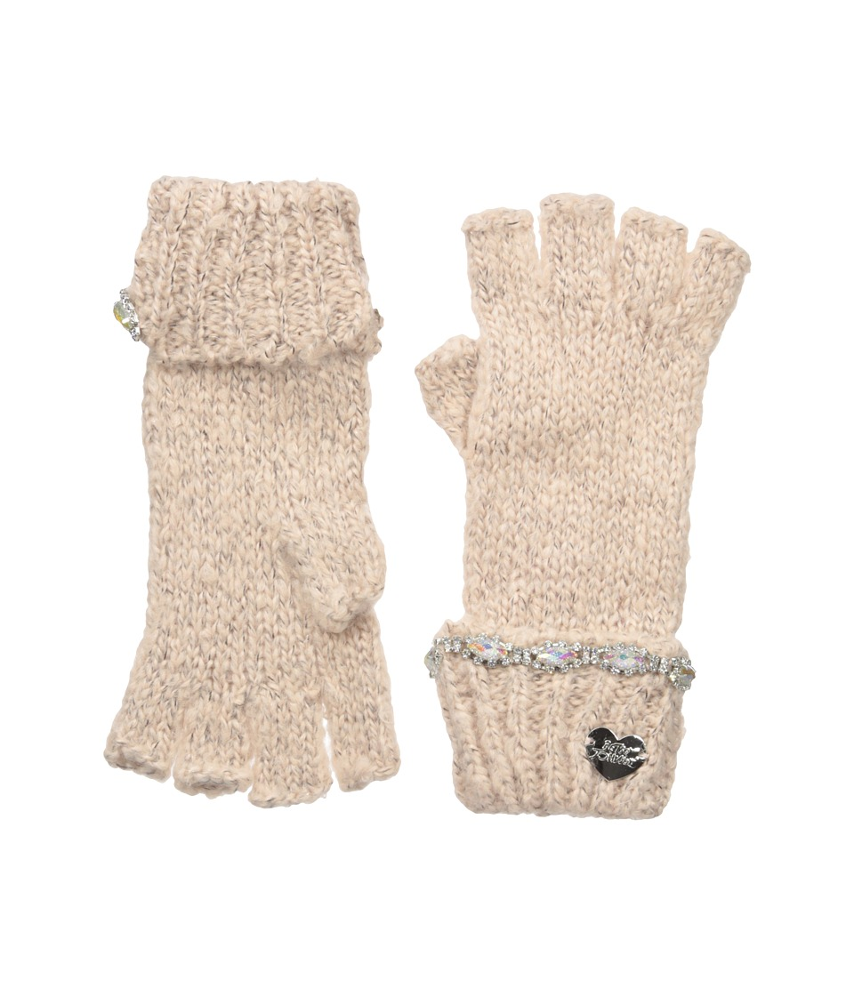 Betsey Johnson - On the Rocks Half Finger Gloves (Blush) Dress Gloves