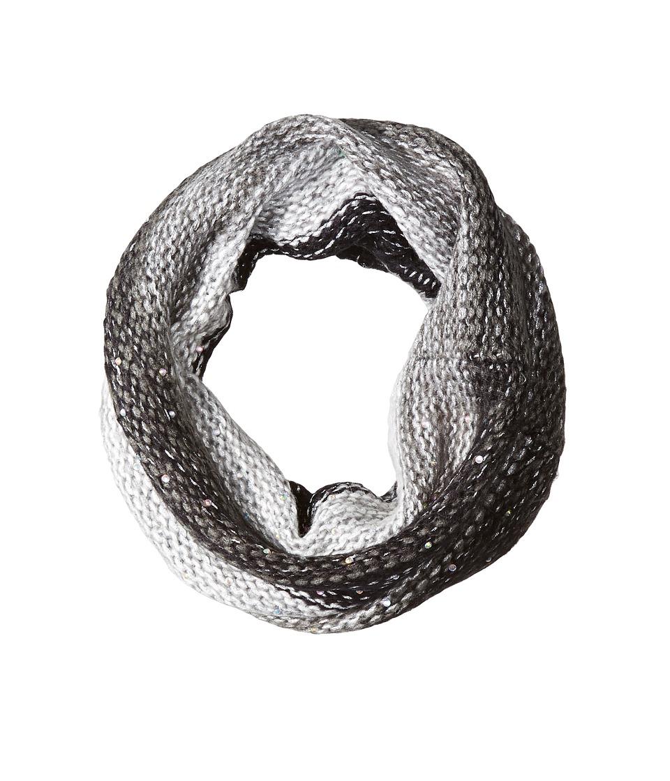 Betsey Johnson - Crystal Light Knit Snood (Black) Knit Hats