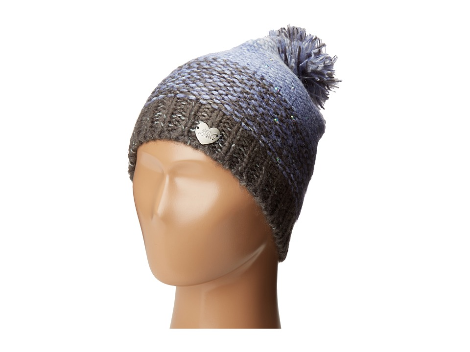 Betsey Johnson - Crystal Light Knit Beanie (Peridot) Beanies