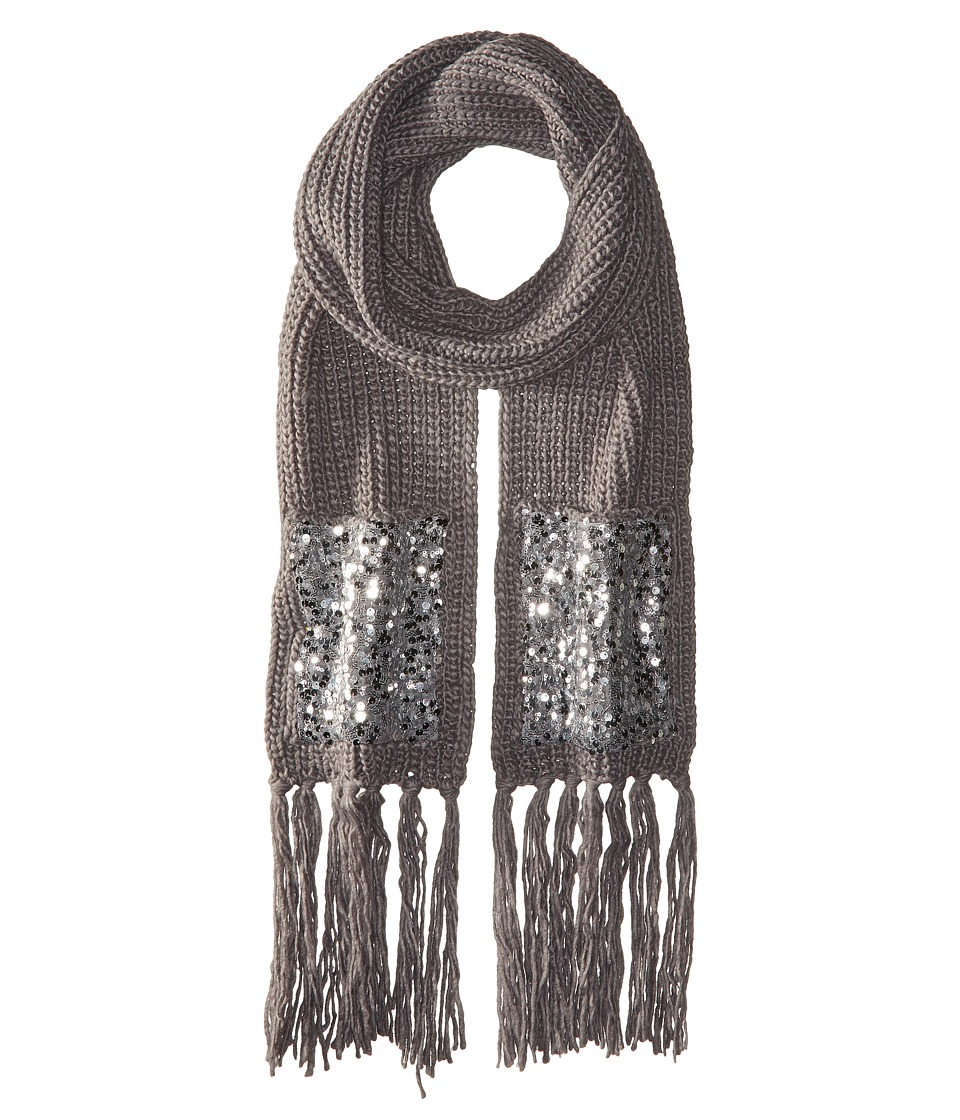 Betsey Johnson - Sequins Shine Muffler (Grey) Scarves