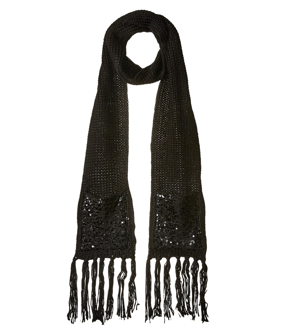 Betsey Johnson - Sequins Shine Muffler (Black) Scarves