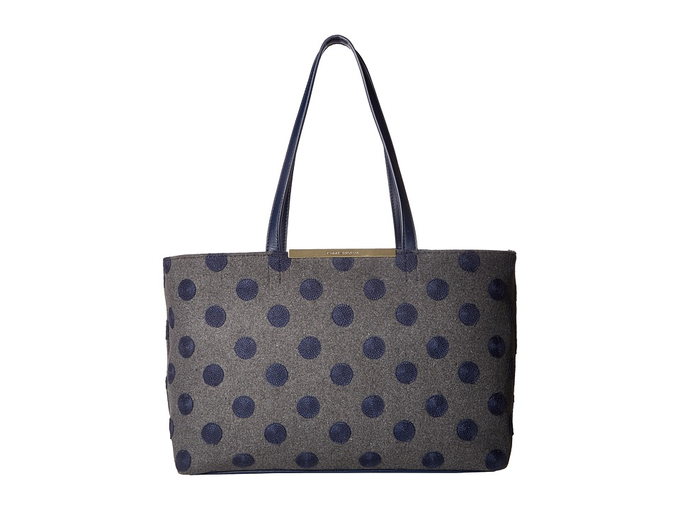 Tommy Hilfiger - Brielle Shopper (Frost Gray/Navy) Handbags