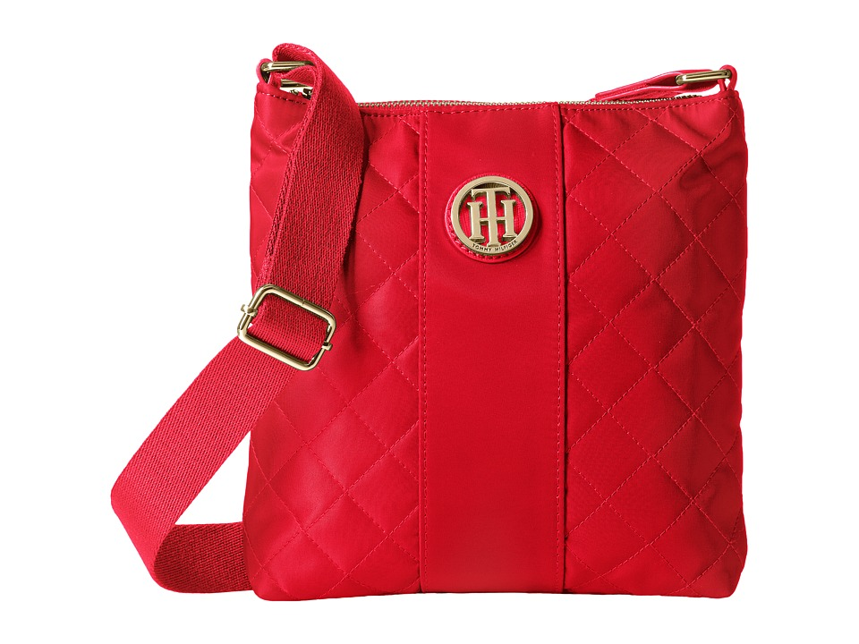 Tommy Hilfiger - Isla North/South Quilted Crossbody (Racing Red) Cross Body Handbags