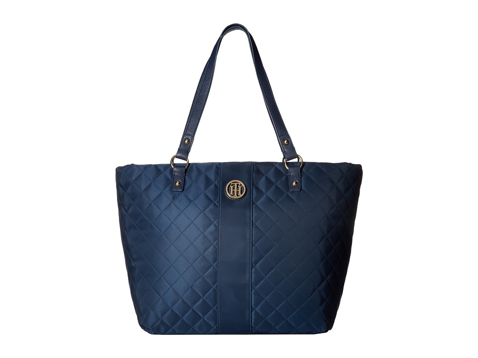Tommy Hilfiger - Isla Tote Quilted Nylon (Tommy Navy) Tote Handbags