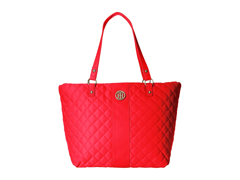 Tommy Hilfiger - Isla Tote Quilted Nylon (Racing Red) Tote Handbags