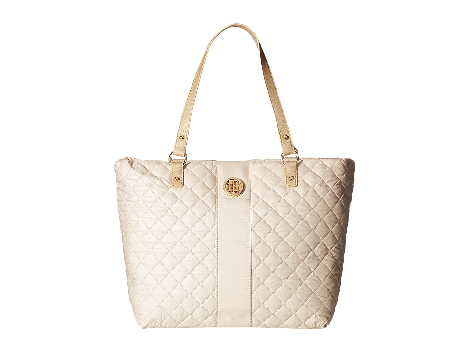 Tommy Hilfiger - Isla Tote Quilted Nylon (Metallic Gold) Tote Handbags