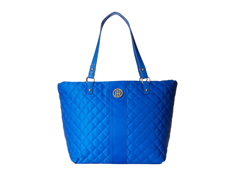 Tommy Hilfiger - Isla Tote Quilted Nylon (Cobalt) Tote Handbags