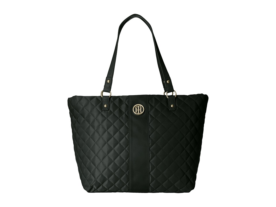 Tommy Hilfiger - Isla Tote Quilted Nylon (Black) Tote Handbags