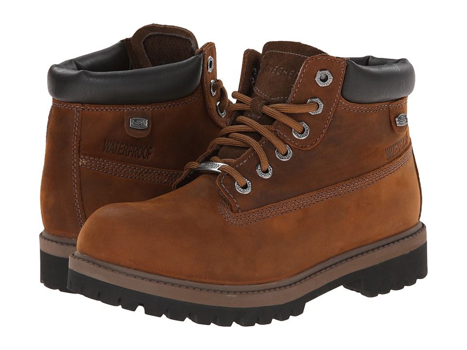 SKECHERS - Rager (Dark Brown) Women's Lace-up Boots