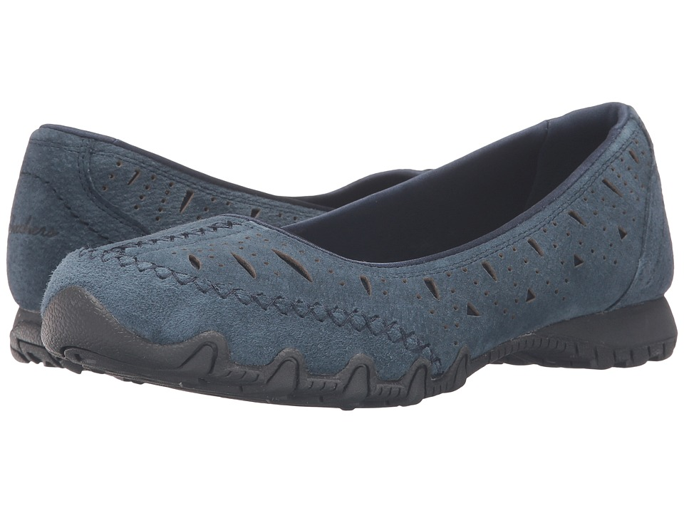 SKECHERS - Bikers - Underline (Navy) Women's Flat Shoes
