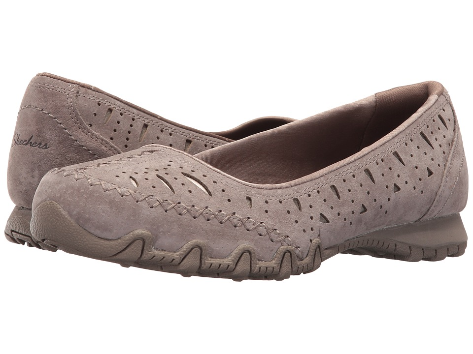 SKECHERS - Bikers - Underline (Taupe) Women's Flat Shoes