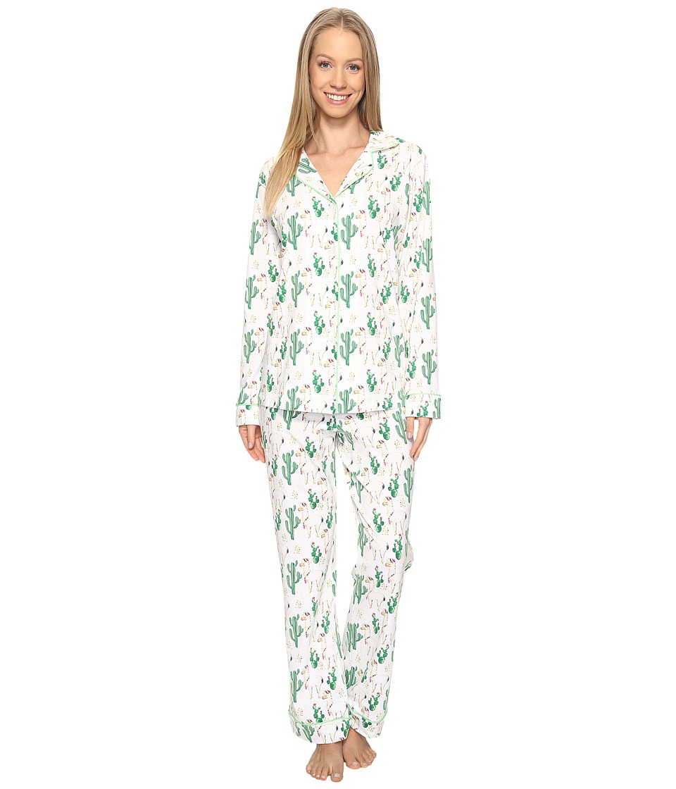 BedHead - Long Sleeve Classic Pajama Set (Llama Cactus) Women's Pajama Sets
