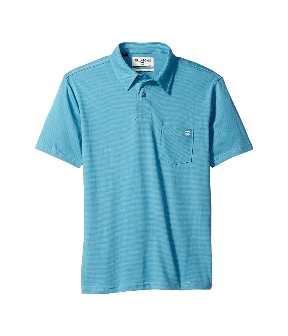 Billabong Kids - Standard Issue Polo (Big Kids) (Petrol Blue) Boy's Short Sleeve Pullover