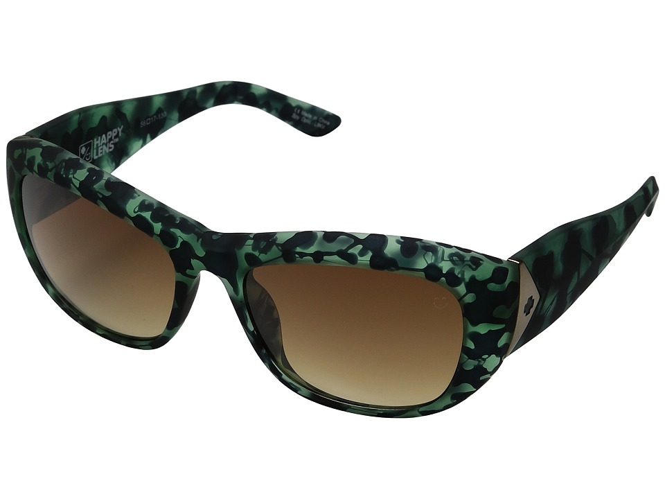Spy Optic - Belle (Soft Matte Green Tortoise/Happy Bronze Fade) Sport Sunglasses