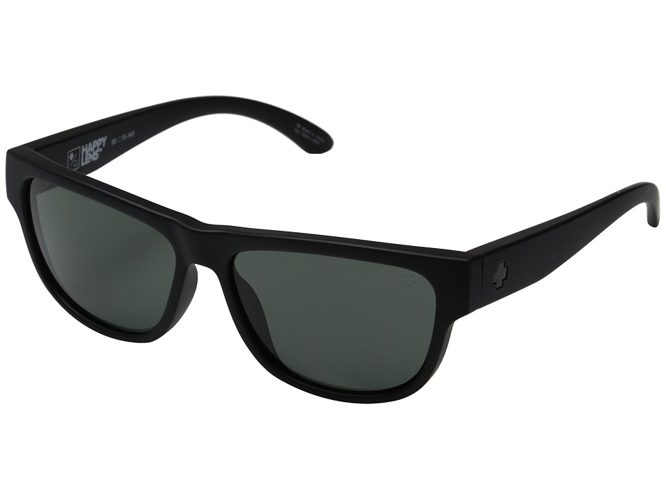 Spy Optic - Hendrix (Soft Matte Black/Happy Gray Green) Fashion Sunglasses