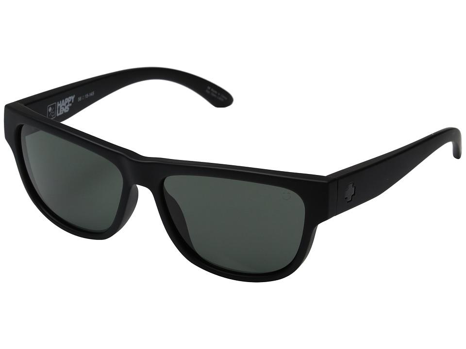 Spy Optic - Hendrix (Soft Matte Black/Happy Gray Green) Fashion Sunglasses